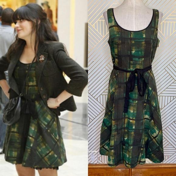 441cf01f8301 Anthropologie Dresses | Maeve Painted Plaid Dress In Green | Poshmark